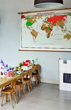 Kids space - playroom Rue Verte, Indoor Play Areas, Learning Spaces, Handmade Furniture, Kid Spaces, Kids Bedroom, Kids Rooms, Decoration, Beautiful Homes