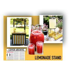 Lemonade Stand by unicornslifeever on Polyvore featuring interior, interiors, interior design, home, home decor, interior decorating and lemonadestand