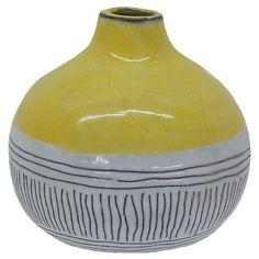 Round Stripe Vase - Yellow - Threshold™