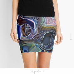 'Meeting Twice' Mini Skirt by Menega Sabidussi @redbubble Women Casual Designer Print Clothing #fashion #aparrel #lifestyle #skirt #redbubble