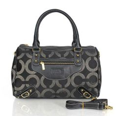 364b112818b Look Here! Coach Logo In Monogram Medium Black Luggage Bags CEE Outlet  Online Coach Outlet