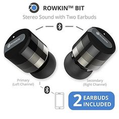 Rowkin Bit Charge Stereo: True Wireless Earbuds w/Portable Charger