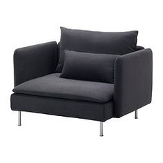 IKEA SÖDERHAMN armchair Hardwearing microfibre which is soft and smooth.