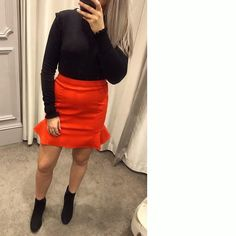 Our Red Flippy Skirt, featured by Glasgow_Oasis on Instagram. Click the selfie to shop the look! #OasisFashion
