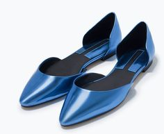 Add D'orsay Flats To Your Shoe Collection Now. Zara - Shiny d'orsay shoes