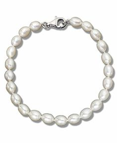 Pearl Bracelet, Sterling Silver and Cultured Freshwater Pearl Bracelet - Bracelets - Jewelry & Watches - Macy's