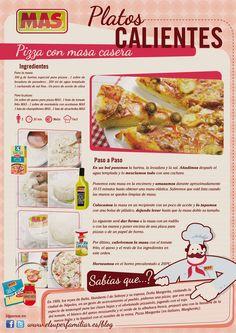 Receta de pizza con masa casera #Receta #InfoReceta #Gastronomia