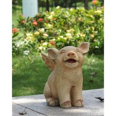 Found it at Wayfair - Sitting Pig with Wings Statue
