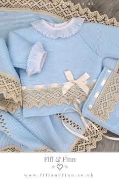 0ba9e28fa Gorgeous Spanish newborn knitted set. The perfect outfit for a new baby gift,  baby