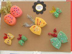 Okul öncesi kelebek sanat etkinliği grup çalışmaları