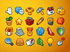 here is a sneak preview of an new icon set I am working on to sell on creative market. Having a lot of fun with it :)