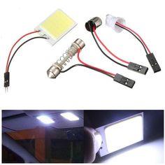 12V COB 2424 Chips LED Interior Light Panel T10 Festoon Car Bulb Lamp