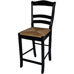 @Overstock - This slat back designed stool is the perfect compliment to any counter or pub table. Constructed of rubberwood and finished in black with a woven rush seat, this stool adds a touch of elegant style to any home.http://www.overstock.com/Home-Garden/Parker-Black-24-inch-Stool/5472706/product.html?CID=214117 $77.48