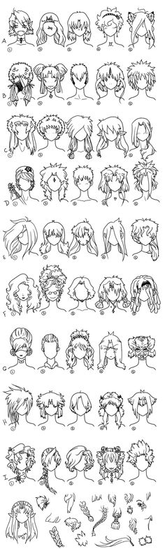Hair Reference Page 1 by Frenehld on @DeviantArt
