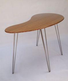 custom standing desk kidney shaped mid. Perfect Shaped Custom Made Standing Desk Kidney Shaped Mid Century Modern  Wood Work  Art Furniture Pinterest Century Midcentury Modern And Desks In Desk Shaped O