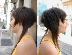 haircut long short contrast by wip-hairport, via Flickr