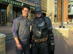Sam Heughan with Batman