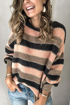 Image Mode, Vogue Knitting, Neue Trends, Long Sleeve Sweater, Cable Knit, Types Of Sleeves, Pullover Sweaters, Sweaters For Women, Crochet