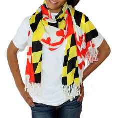 Maryland Flag Scarf - I want this!! Not that it's pretty just for spirit sake!! And I'm a Maryland girl and UMD girl.