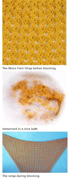 How to block knitting: great tips on blocking basics, including wet blocking and steam blocking.
