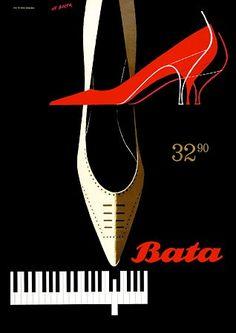 Vintage Poster - Bata shoes - Fashion