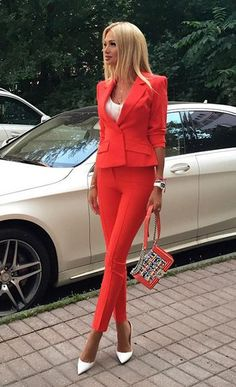 Jacket and Pants 2 Piece Slim Fit Set Women Business Office Uniform Designs Ladi. - Jacket and Pants 2 Piece Slim Fit Set Women Business Office Uniform Designs Ladies Outfit for Weddi - Glamouröse Outfits, Office Outfits, Classy Outfits, Casual Outfits, Fashion Outfits, Office Uniform, Woman Outfits, Fall Outfits, Fashion Ideas