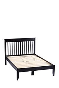 Made from pine wood with a slatted wood base and headboard, this double bed provides you with a durable bed that is suitable for modern or traditional bedroom.