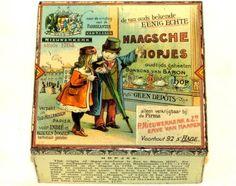 Early Dutch Hopjes Children Candy Tin 1910