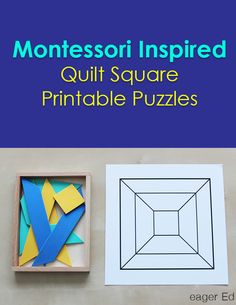 Q is for Quilt Quandaries | Montessori Inspired Printable Puzzles | eager Ed