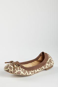 giraffe print ballet flats