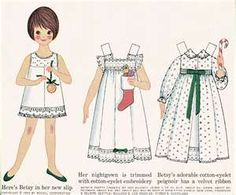 Betsy McCall Paper Dolls. I could hardly wait for the magazine to cut out the paper dolls.