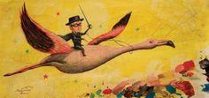 MAGIC PAINTINGS: Zorro sobre flamenco
