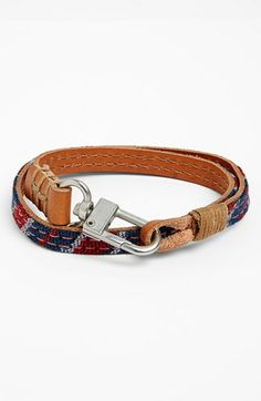 Caputo & Co Reversible Leather Double Wrap Bracelet (Nordstrom Exclusive) available at #Nordstrom