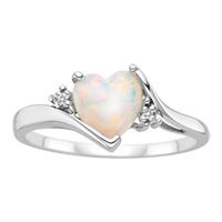 Opal and diamond heart ring (Fred Meyer Jewelers) Opal Jewelry, Heart Jewelry, Cute Jewelry, Silver Jewelry, Jewelry Accessories, Heart Ring, Jewelry Box, Baby Jewelry, 925 Silver