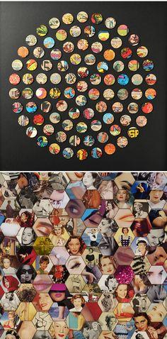 Amelia Coward - collage (comic books and vintage ladies)