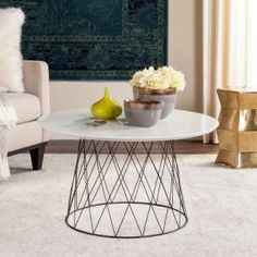 Safavieh Roe Retro Mid Century Lacquer White Coffee Table FOX4244C at The Home Depot - Mobile