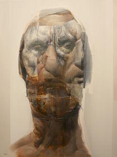 Fragmented portraits by Daniel Ochoa - Bleaq Plastic Art, Photocollage, Portrait Art, Portrait Paintings, Modern Artists, Mixed Media Canvas, Face Art, Figurative Art, Art Images