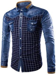 Camisas Modernas Manga Larga Para Hombre De Vestir Elegantes Para Hombres Men