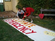 Banner painting is a great activity to build community - and to make sure you have your message out in front of your march. Welcome Home Banners, How To Make Banners, Best Banner, Community Building, Told You So, Kids Rugs, Messages, Activities, March