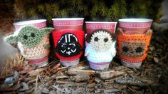 Star Wars Inspired Coffee Cozy Mug Cozies Free Shipping To Us Only