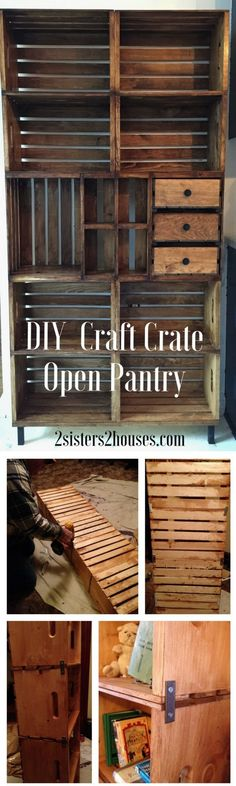 Check out how to build a DIY open pantry from crates @istandarddesign