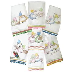 Friends Tea Towel Iron on Patterns Transfers Sunbonnet Daily Work Cleaning Wash | eBay