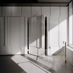 Gallery of New College Student Residence / Saucier + Perrotte architectes - 18 Interior Walls, Bathroom Interior Design, Cabinet Design, Door Design, Design Design, Hidden Doors In Walls, Feature Wall Design, Feature Walls, Door Dividers