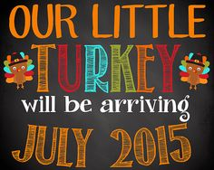 Thanksgiving Pregnancy Announcement Fall by SimplebyBrooke