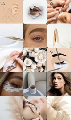 Best Instagram Feeds, Instagram Feed Ideas Posts, Instagram Feed Layout, Instagram Frame, Instagram Design, Beauty Bar Salon, Hair And Beauty Salon, Rose Gold Brushes, Beauty Shoot