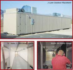 Modular shooting range - comes with shooting stalls, target retrieval systems, bullet traps, lighting and HVAC systems. Zero contamination for the outside world. Meets environmental and safety regulations. Indoor Shooting Range, Indoor Range, Shooting Bench, Range Targets, Gun Rooms, Safe Room, Shooting Targets, Outside World, Home Defense