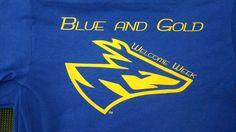 Blue and Gold -UNK Lopers - Welcome week - UNK - apparel - t-shirt - tee shirt - design - screen print - screenprint - Kearney Nebraska - Shirt Shack