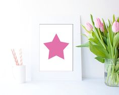 SPink Star JPEG in 4 sizes by Clickatoos on Etsy