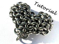 Chainmail Heart Tutorial Chainmail Heart by TheChainMail101