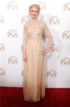 Actress Nicole Kidman arrives at the 28th Annual Producers Guild Awards at The Beverly Hilton Hotel on January 28 2017 in Beverly Hills California